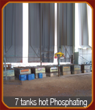 7 Tank Hot Phosphating Plant for Metal Treatment